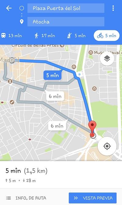 Google Maps para Ciclisas