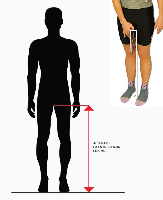 medir entrepierna para saber la talla de bicicleta